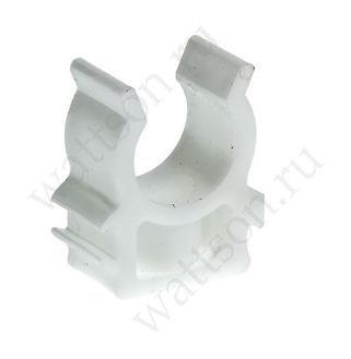 СИНИКОН Клипса одинарная для металлопластиковых труб БЕЛАЯ, 16 мм
